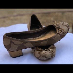 NW Coach Ballet Slip on Pump, Size 8.5
